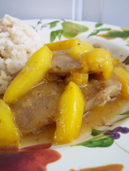 Peach Glazed Pork Chops (Oamc). Photo by * Pamela *