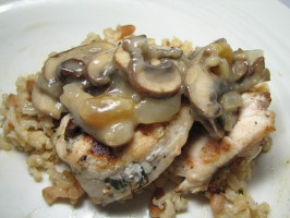 Spanish Style Chicken (Grilled With Raisin Wine Sauce). Photo by Mama2boys