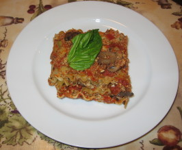 Herbed Tofu Lasagna With Zucchini. Photo by Maito