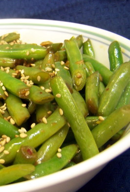 Wok or Skillet Asian-Style Fresh Green Beans. Photo by PaulaG