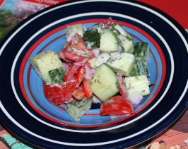 Twisted Sister's Creamy Cucumber Salad. Photo by Boomette