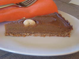 Vegan Pumpkin Tart With Pecan Crust. Photo by magpie diner