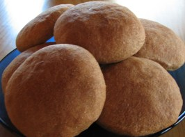 Mom's 100% Whole Wheat Air Buns (Rolls)  for Abm. Photo by Deely