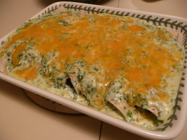 Jalapenos' Spinach Enchiladas. Photo by cookiedog