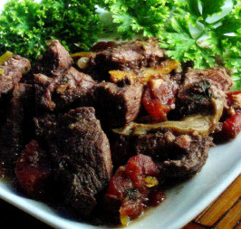 Boeuf En Daube - French Beef  Burgundy in the Crock Pot. Photo by Caroline Cooks