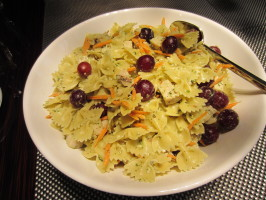 Pesto Chicken Salad With Red Grapes. Photo by Grace Lynn