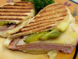 Pressed Cuban Sandwich With Garlic Dijon Butter. Photo by lazyme