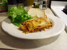 Venison Lasagne (Or Beef). Photo by ghostkat