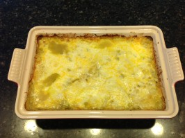 Mexican-Style Green Chile Chicken Casserole. Photo by radioactivemama