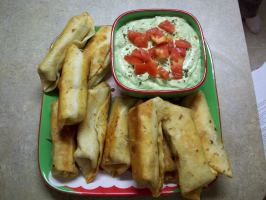 TSR Version of Chili's Southwestern Egg Rolls by Todd Wilbur. Photo by Cookin It Up Courtney