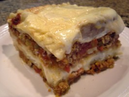 Classic Lasagna With Meat Sauce, Tomatoes and Bechamel Sauce ( L. Photo by amy_nicole
