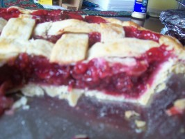 Cherry-Red Raspberry Pie. Photo by Elaniemay