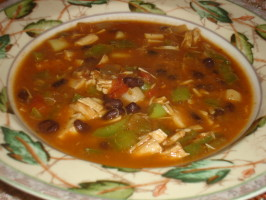 Savory Southwestern Soup-South Beach Friendly!. Photo by *Pixie*