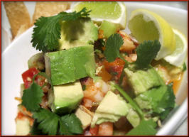 Shrimp Ceviche With Avocado. Photo by Sandi (From CA)