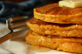 Light and Fluffy Pumpkin Pancakes. Photo by GaylaJ