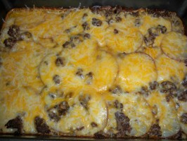 Hamburger Potato Cheese Casserole. Photo by cookwithjess