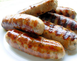 Old Fashioned English Spiced Pork and Herb Sausages or Bangers!. Photo by French Tart