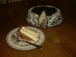 Chocolate-Glazed Coconut-Almond Cake. Photo by *Pixie*