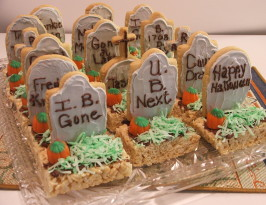 Halloween Tombstone Treats. Photo by Wildflour