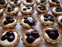 Blueberry Tarts With Meyer Lemon Cream. Photo by Tasty Tidbits