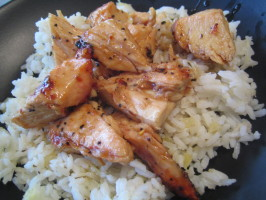 Sticky Coconut Chicken With Chili Glaze and Coconut Rice. Photo by pattikay in L.A.