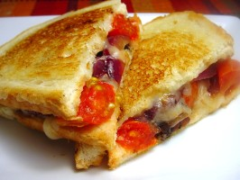 Bada Bing Betty's Tuscan Portobello Melt (Grilled Cheese). Photo by Sharlene~W