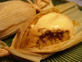 Sweet Tamales With Yams and Pecans. Photo by Sharlene~W