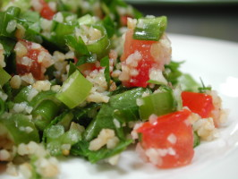 Tabbouli / Tabouli / Tabbouleh Salad (Parsley Salad). Photo by Chef floWer