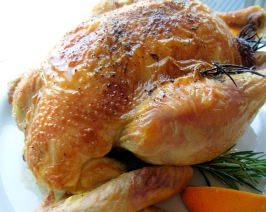 Roast Chicken With Grand Marnier Glaze. Photo by French Tart