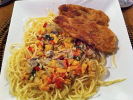Cheesecake Factory's Louisiana Chicken Pasta. Photo by aencalada