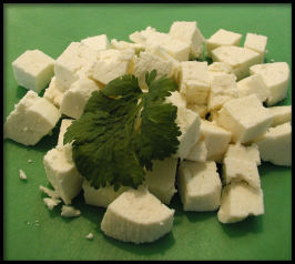Homemade Paneer (Panir - Indian Cheese). Photo by Sandi (From CA)