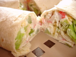 Crab Salad Tortilla Wraps * Subway Copycat. Photo by Sarah_Jayne