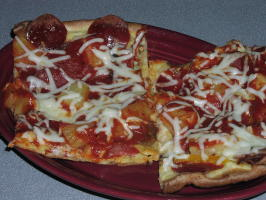 Aunt Alta's Crazy Crust Pizza. Photo by TeresaS