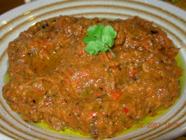 Spicy Aubergine (Eggplant) and Red Pepper Tapenade - Dip. Photo by French Tart