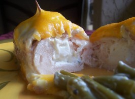 Bacon-Wrapped Cream Cheese Chicken Breast. Photo by lazyme