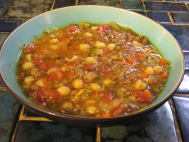 Minestrone With Italian Sausage. Photo by breezermom