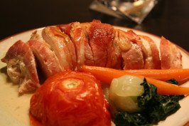 Bacon Wrapped Boursin Stuffed Chicken Breasts - a Deux!. Photo by no cake mix