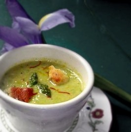 Fresh Cream of Asparagus Soup from the Farm. Photo by Andi of Longmeadow Farm