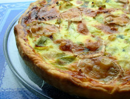 Goat's Cheese, Shallot and Leek Tart - a Bit of a French Tart!. Photo by French Tart