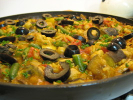 Isaiah's Vegetarian Paella [ Kosher ]. Photo by What's Cooking?