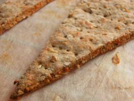 Parmesan and Sesame Crimple Crackers. Photo by Lalaloula