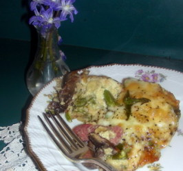 Icelandic Asparagus & Ham Bake. Photo by Andi of Longmeadow Farm