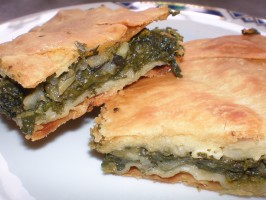 My Mum's Greek Spinach Pie  (Spanakopita). Photo by katia