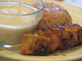 Shish Taouk Toum - Grilled / BBQ Chicken With Garlic Sauce. Photo by Bonnie G #2