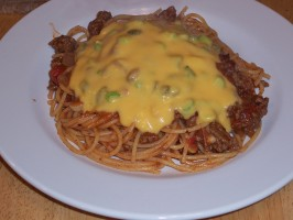 Cowboy Spaghetti With Cheese Sauce - Rachael Ray. Photo by Chef Petunia