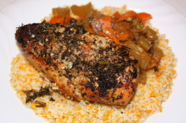 Herbed Lemon Chicken in a Crock Pot / Slow Cooker. Photo by Peter J