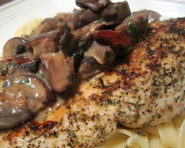 TSR Version of Carrabba's Chicken Marsala by Todd Wilbur. Photo by Sandi (From CA)