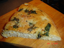 Focaccia Bread With Three Topping Choices. Photo by Janni402