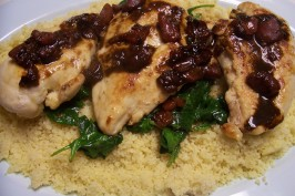 Balsamic Chicken With Baby Spinach. Photo by HeatherFeather