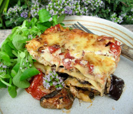 Roast Vegetable Lasagne With Spinach and Ricotta. Photo by French Tart